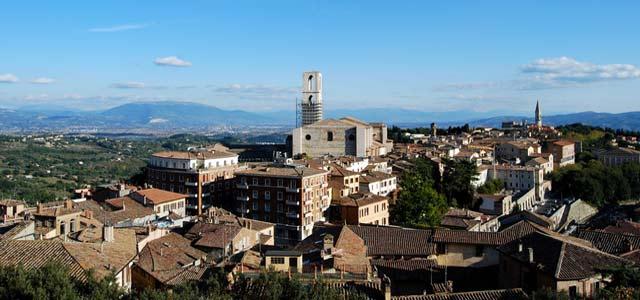 Blick über Perugia